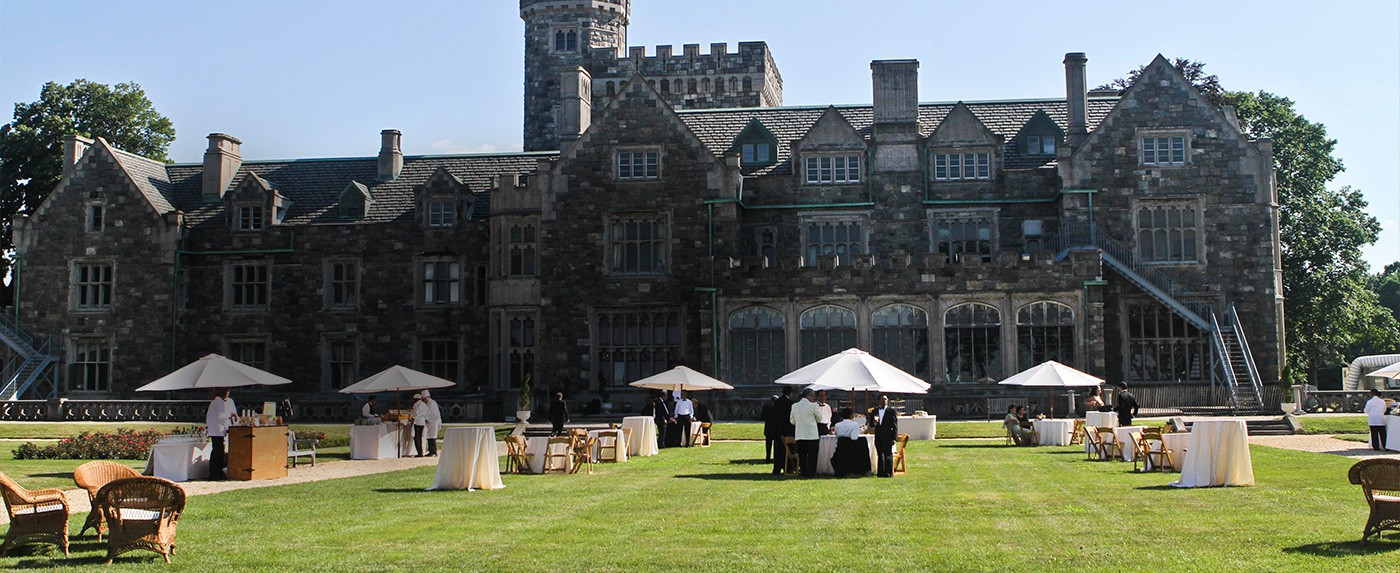 Corporate event on the Long Island lawns & gardens of Sands Point Preserve.